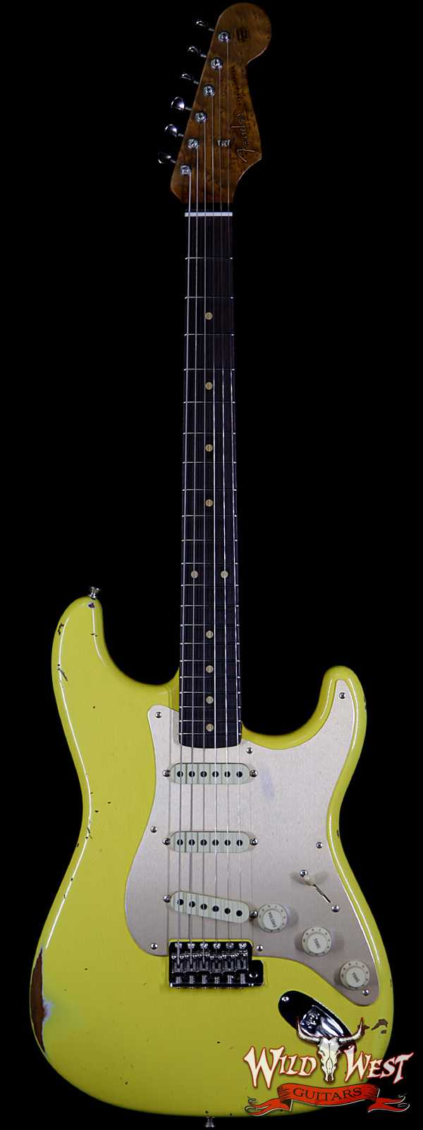 Fender Custom Shop 1960 Roasted Stratocaster Relic Birdseye Neck Rosewood Fingerboard Graffiti Yellow
