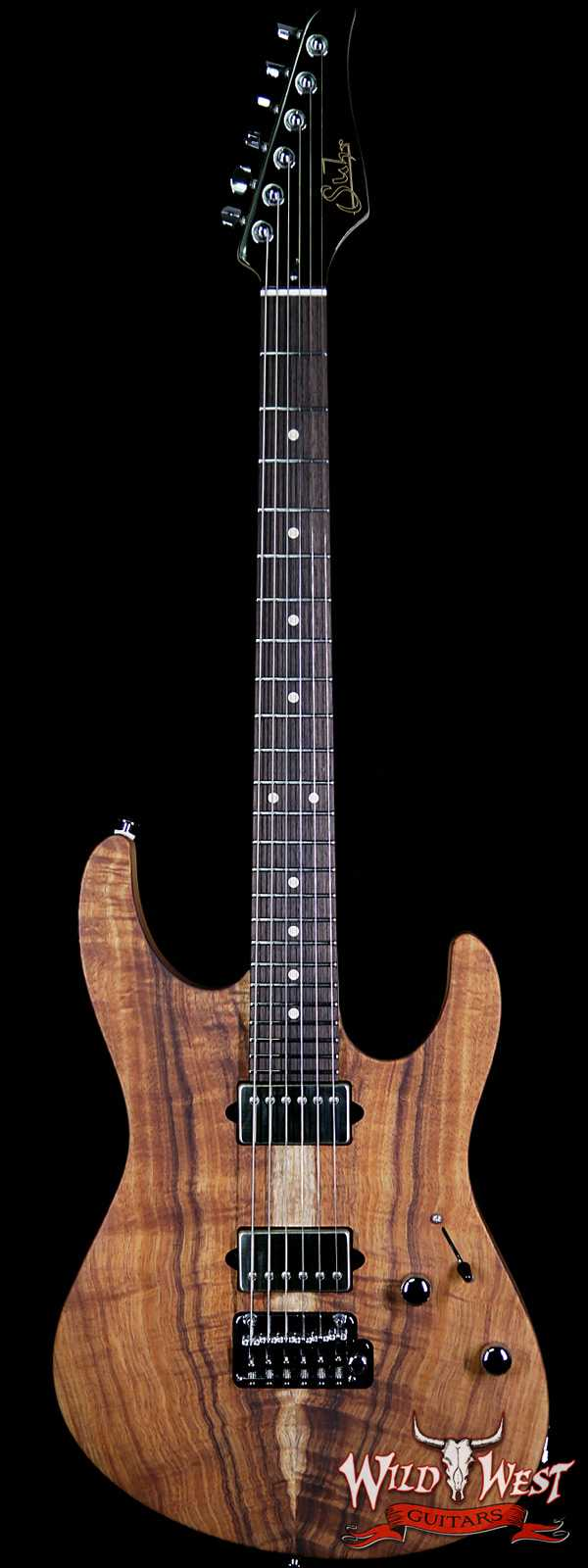 Suhr Modern HH Koa Top Indian Rosewood Fingerboard Satin Finish Natural