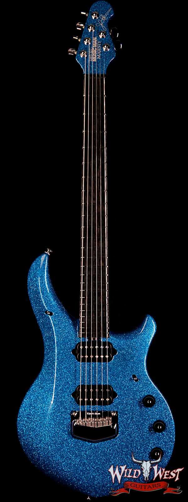 Ernie Ball Music Man BFR Limited Edition John Petrucci Signed Majesty # 96 of 118 Marine Blue Sparkle
