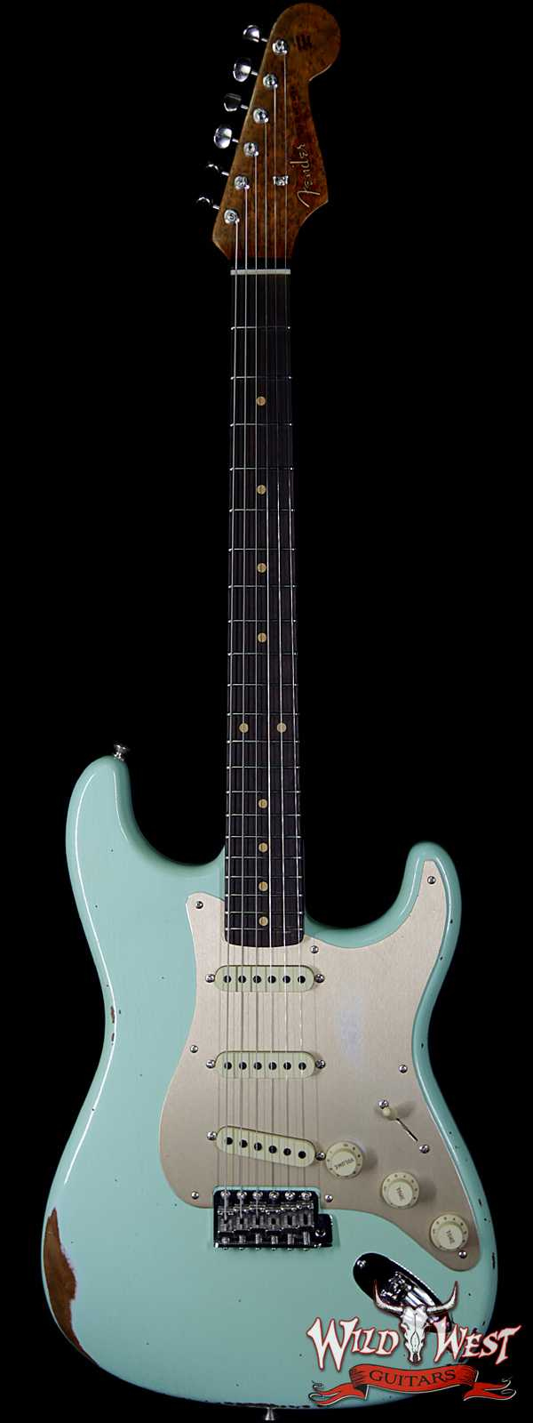 Fender Custom Shop 1960 Roasted Stratocaster Relic Birdseye Neck Rosewood Fingerboard Faded Surf Green