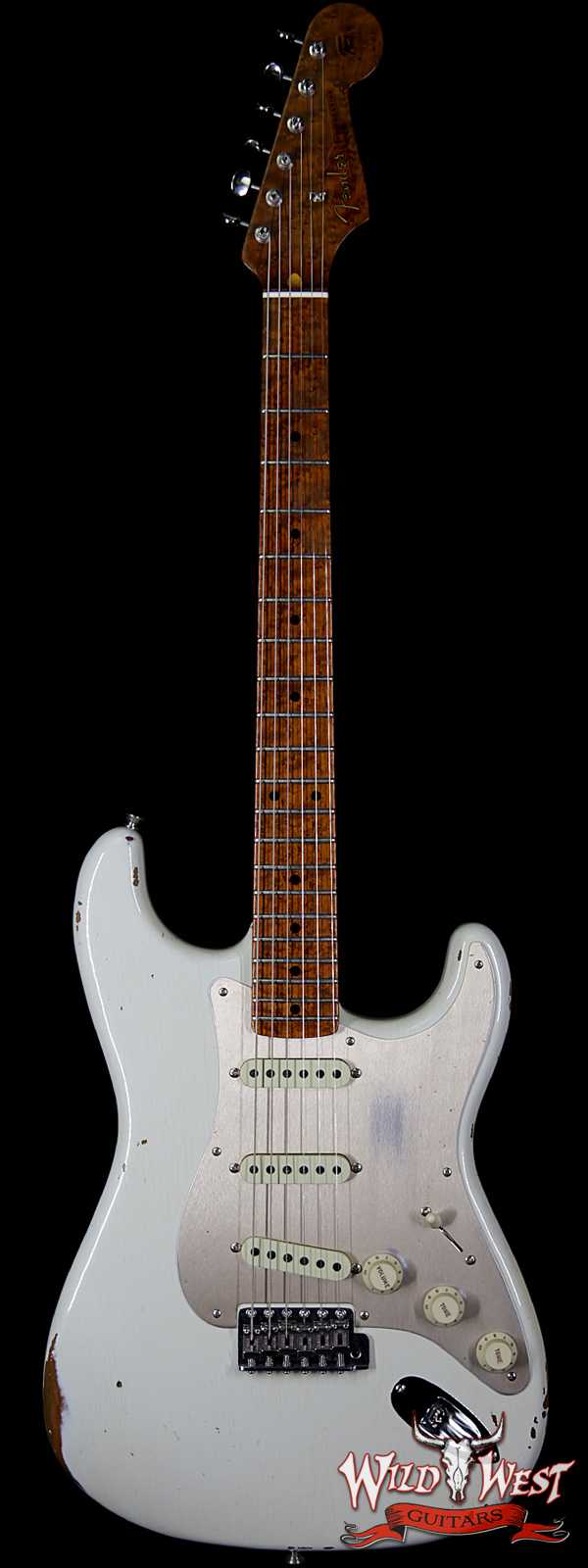 Fender Custom Shop NAMM Limited 1956 Roasted Stratocaster Relic Birdseye Maple Neck Olympic White