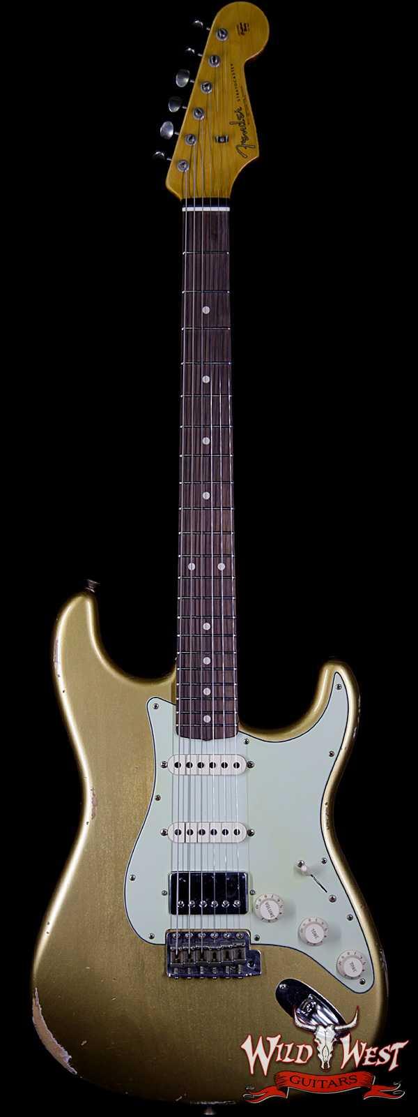 Fender Custom Shop 1962 Stratocaster HSS EVH Pickup Relic Rosewood Fingerboard Aztec Gold