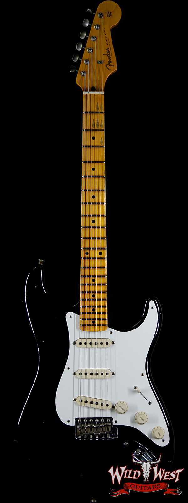 Fender Custom Shop 1957 Stratocaster Maple Neck Journeyman Relic with Dirty Neck Black