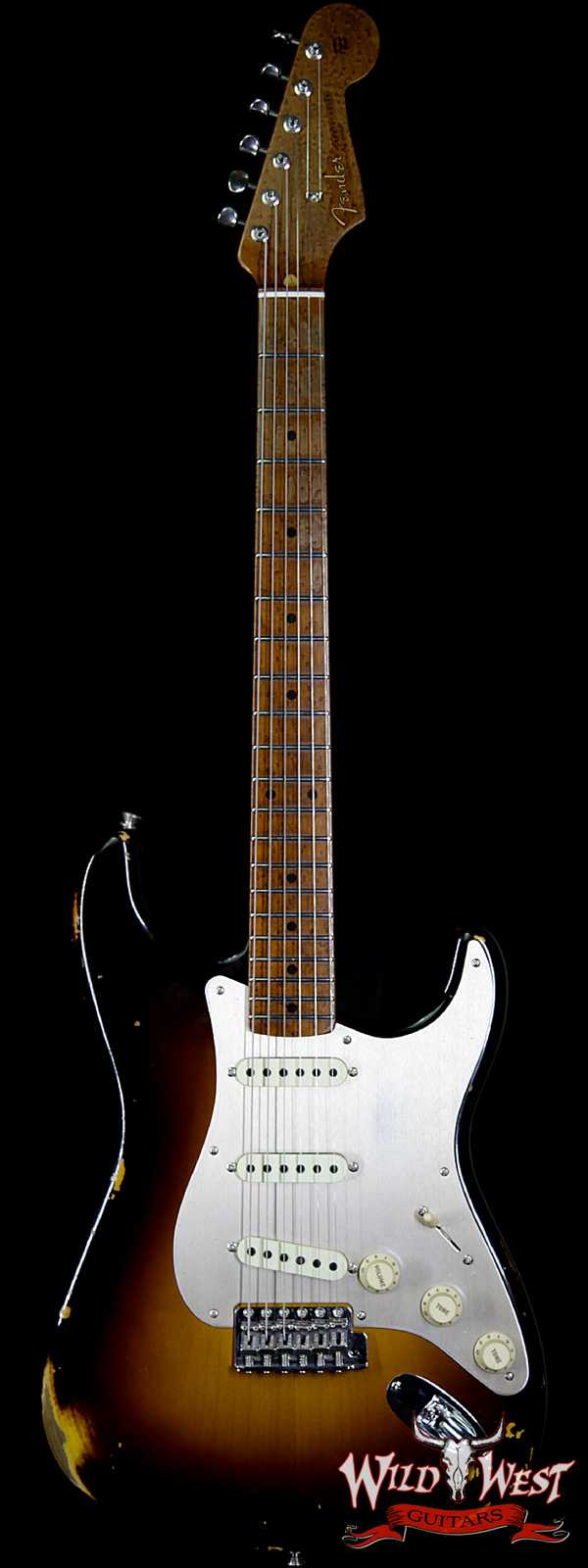 Fender Custom Shop 1956 Roasted Stratocaster Relic Birdseye Maple Neck 2 Tone Sunburst