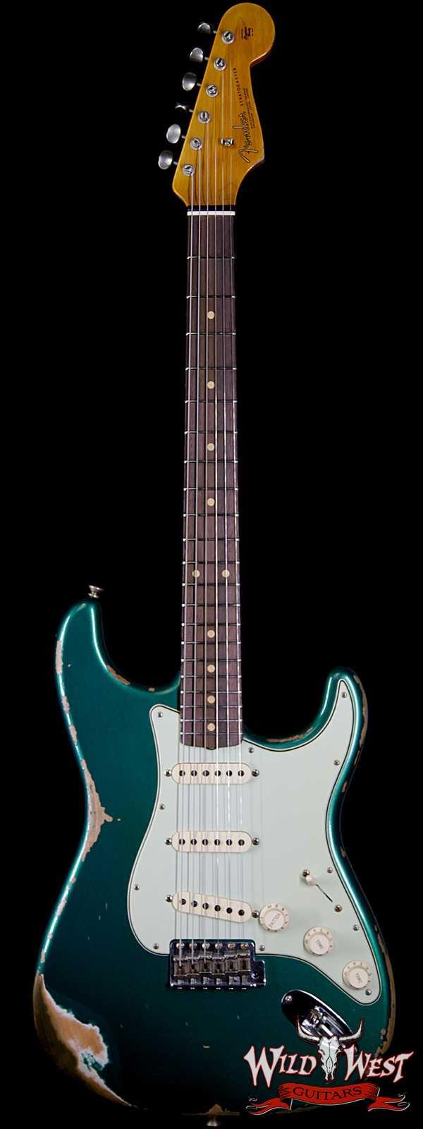 Fender Custom Shop 1963 Stratocaster AAA Rosewood Fingerboard Heavy Relic British Racing Green