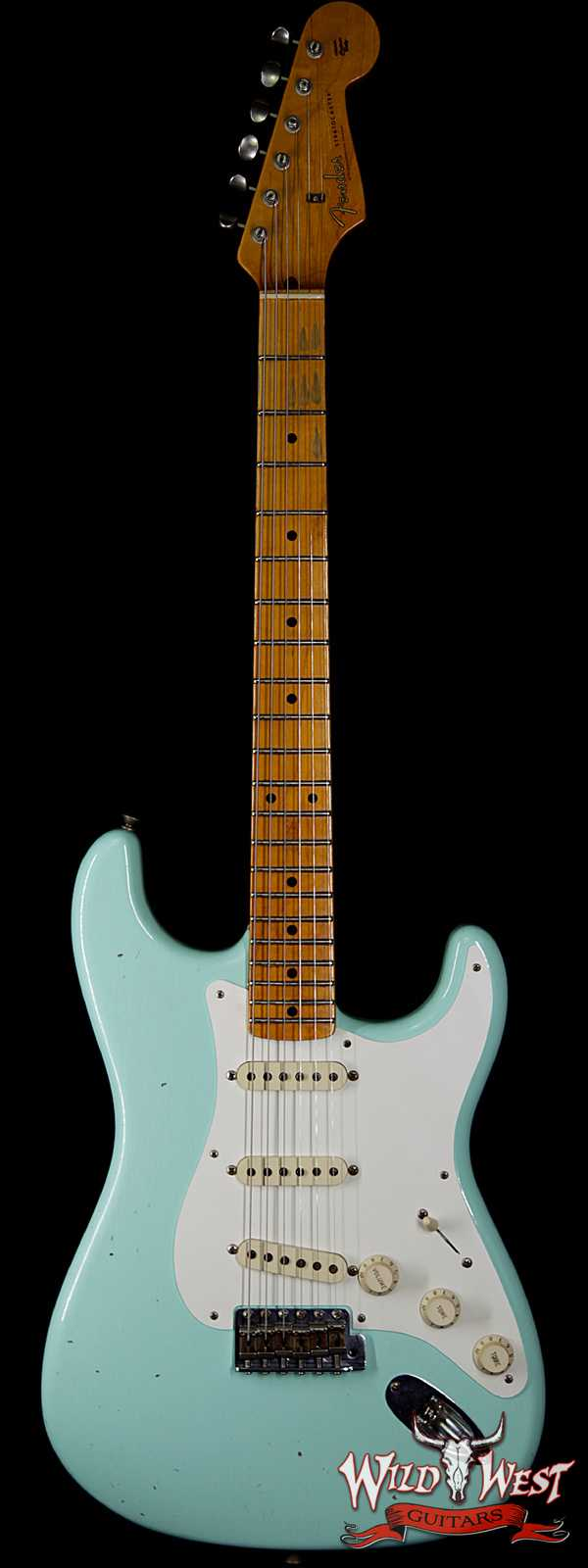 Fender Custom Shop 1957 Stratocaster Relic Maple Neck Surf Green