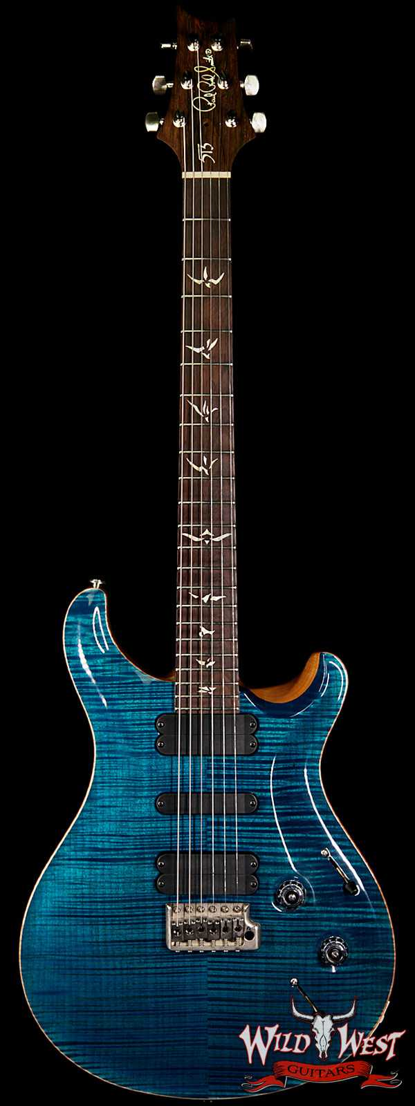 2005 PRS Artist Package 513 Flame top Brazilian Rosewood Neck Aquamarine