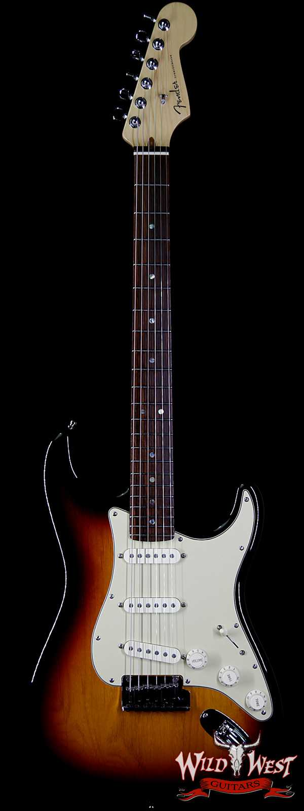 2005 Fender American Stratocaster Deluxe Rosewood Fingerboard with S-1 Switch 3 Tone Sunburst