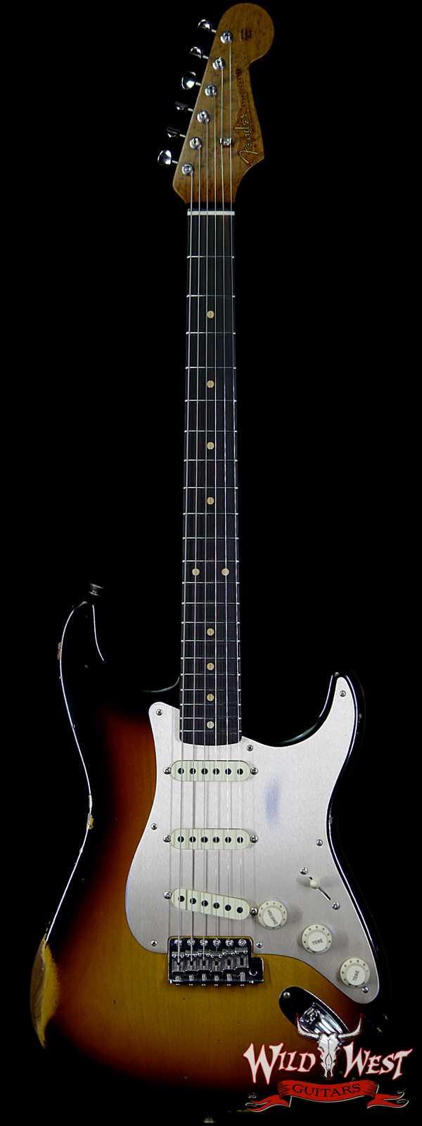 Fender Custom Shop 1960 Stratocaster Relic Roasted AAA Birdseye Neck Rosewood Board 3 Tone Sunburst