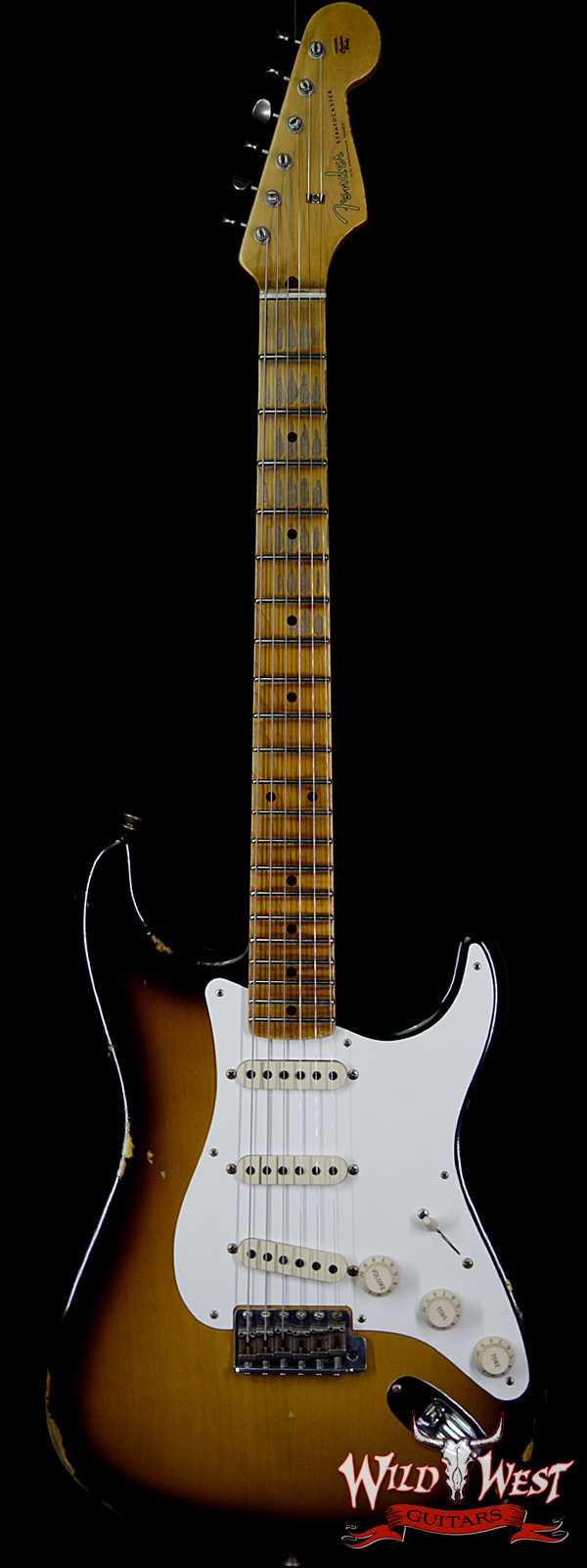 Fender Custom Shop 1957 Stratocaster Relic Maple Neck 2 Tone Sunburst