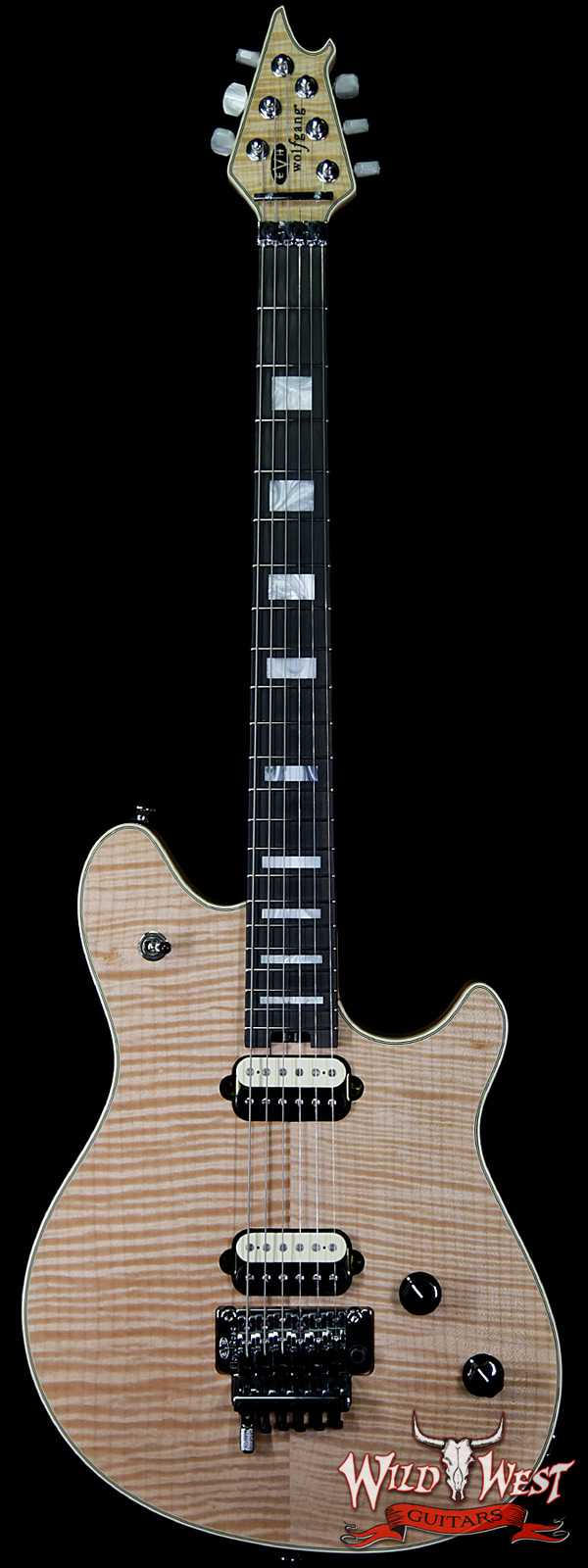 2016 EVH Wolfgang USA 5A Flame Maple Top Natural