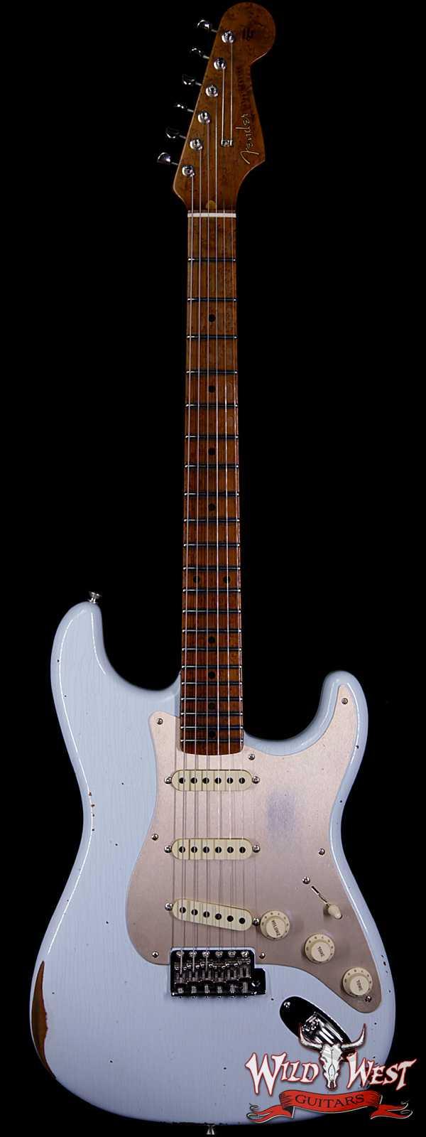 Fender Custom Shop 1956 Roasted Stratocaster Relic Birdseye Maple Neck Aged Sonic Blue