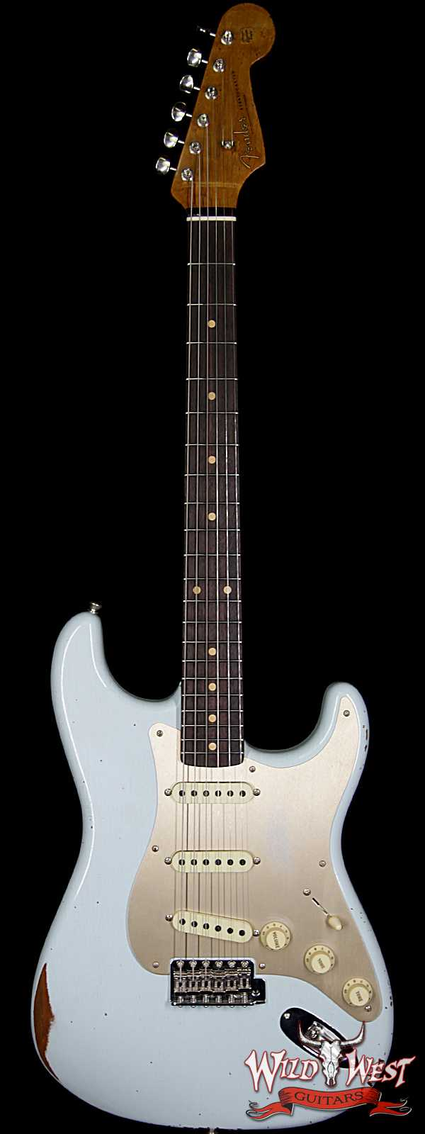 Fender Custom Shop 1960 Roasted Stratocaster Relic AAA Rosewood Fingerboard Faded Sonic Blue