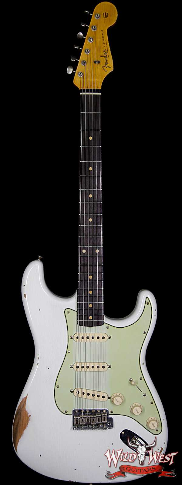Fender Custom Shop 1961 Stratocaster Relic Rosewood Fingerboard Olympic White