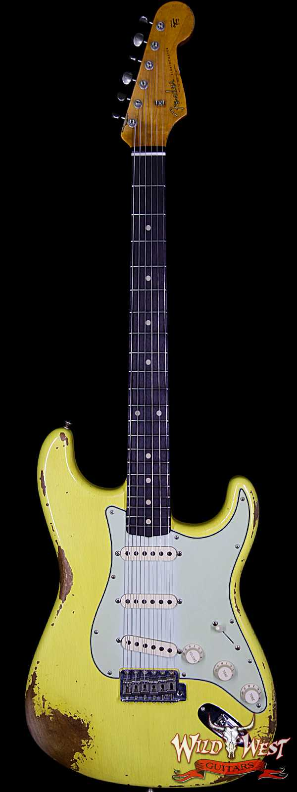 Fender Custom Shop 1961 Stratocaster Heavy Relic AAA Rosewood Fingerboard Graffiti Yellow