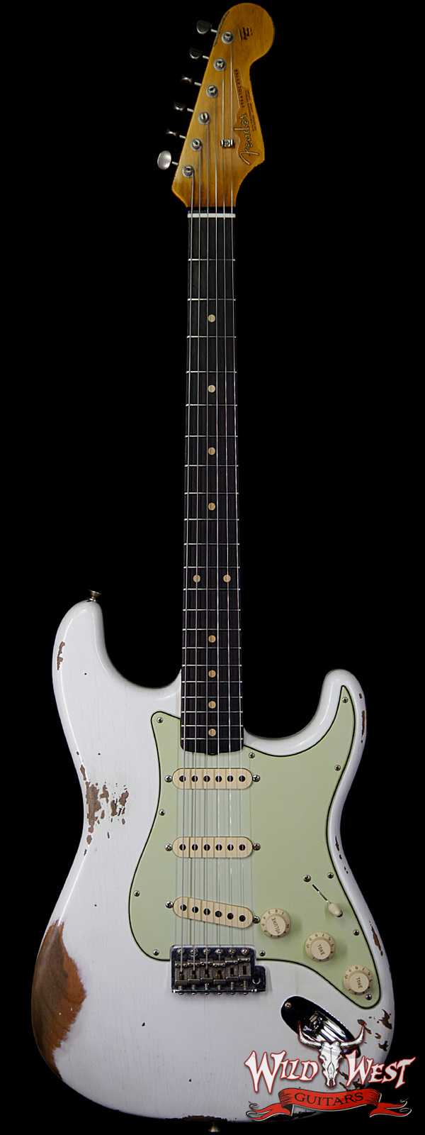 Fender Custom Shop 1963 Stratocaster Heavy Relic AAA Rosewood Fingerboard Olympic White