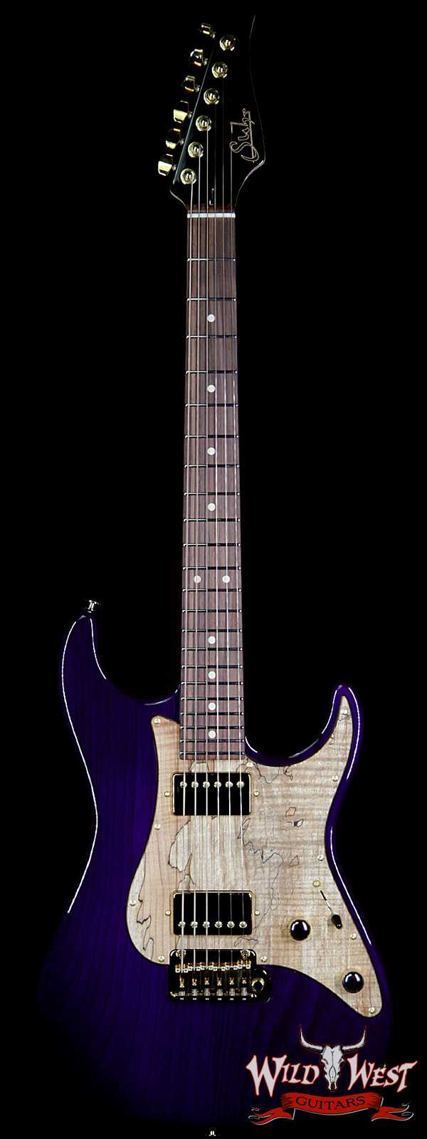 Suhr Standard HH Swamp Ash Body Spalted Maple Pickguard Rosewood Fingerboard Trans Purple