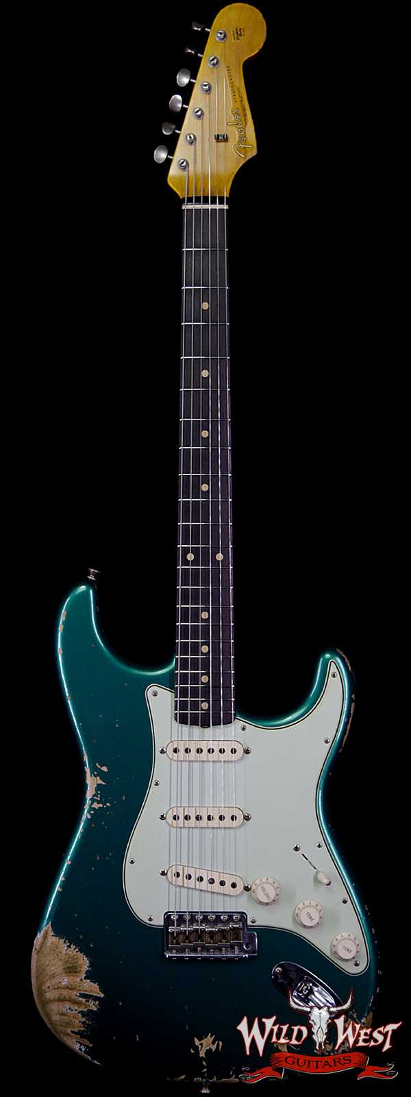 Fender Custom Shop 1961 Stratocaster Heavy Relic AAA Rosewood Board British Racing Green