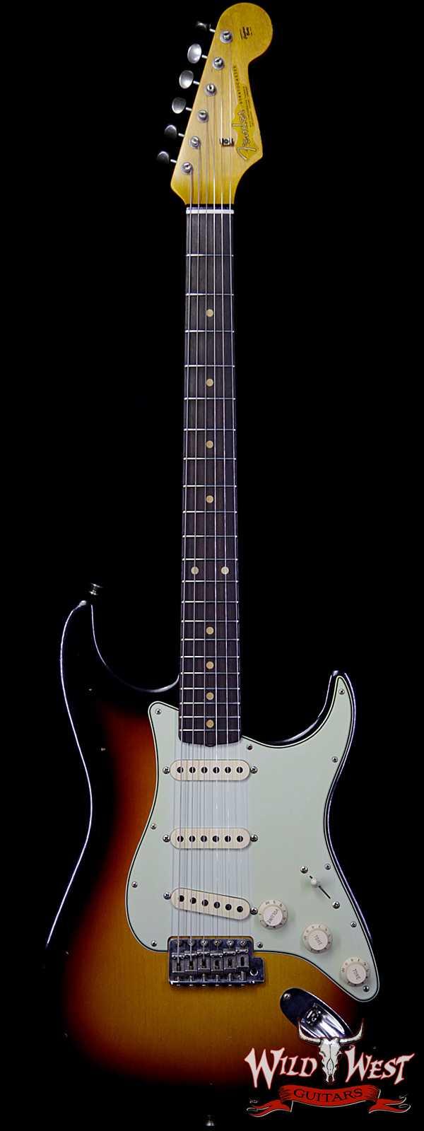 Fender Custom Shop 1963 Stratocaster Journeyman Relic with Dirty Neck 3 Tone Sunburst