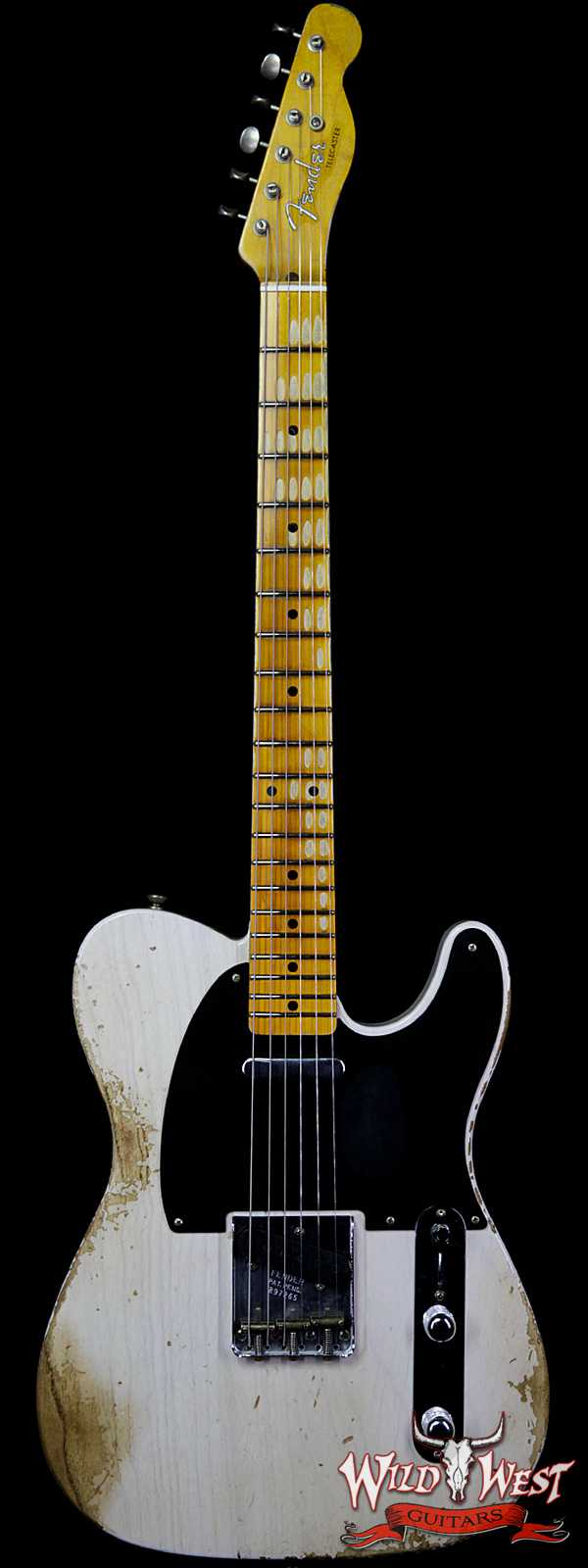 Fender Custom Shop 1952 Telecaster Heavy Relic Maple Neck White Blonde