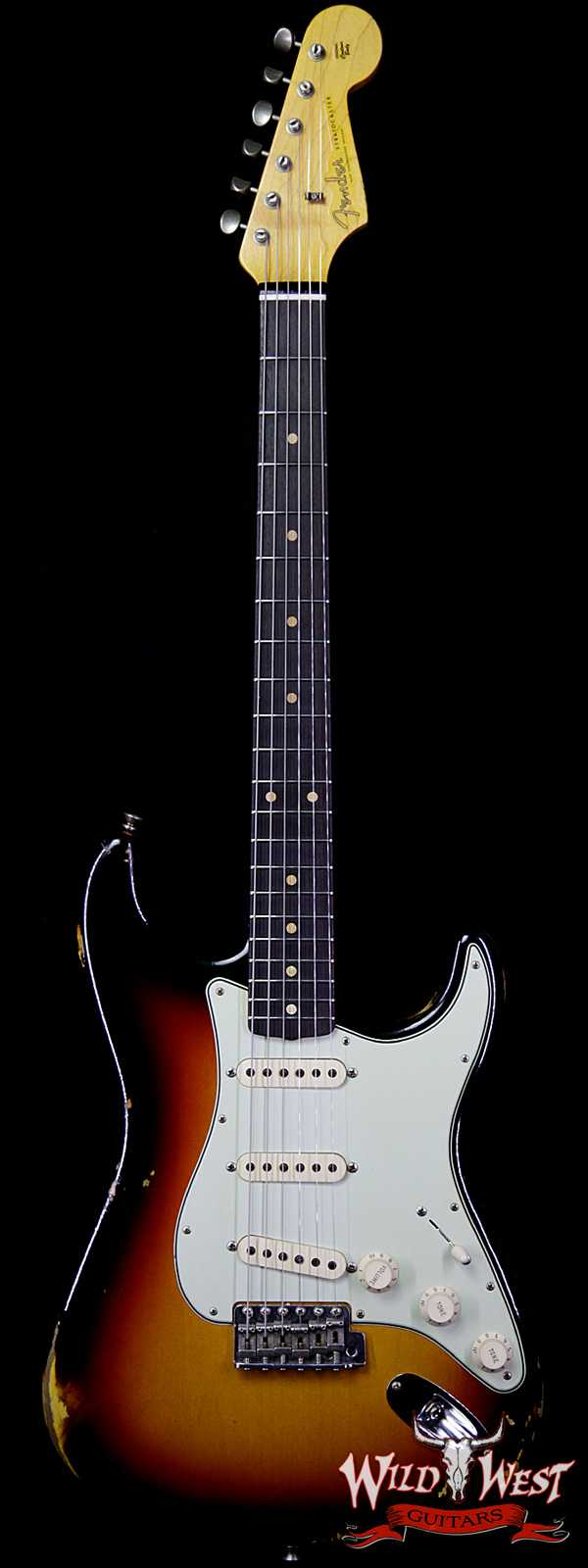 Fender Custom Shop 1961 Stratocaster Relic AAA Rosewood Fingerboard 3 Tone Sunburst