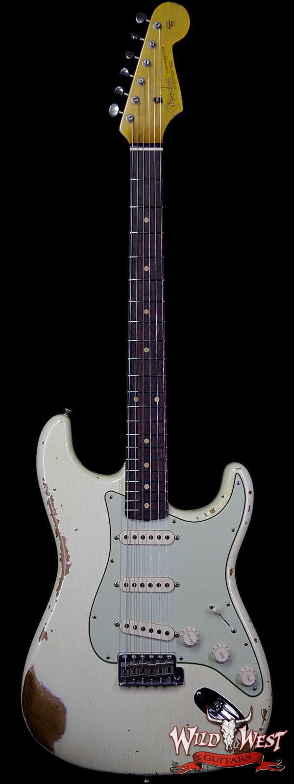 Fender Custom Shop 1963 Stratocaster Heavy Relic AAA Rosewood Fingerboard Vintage White