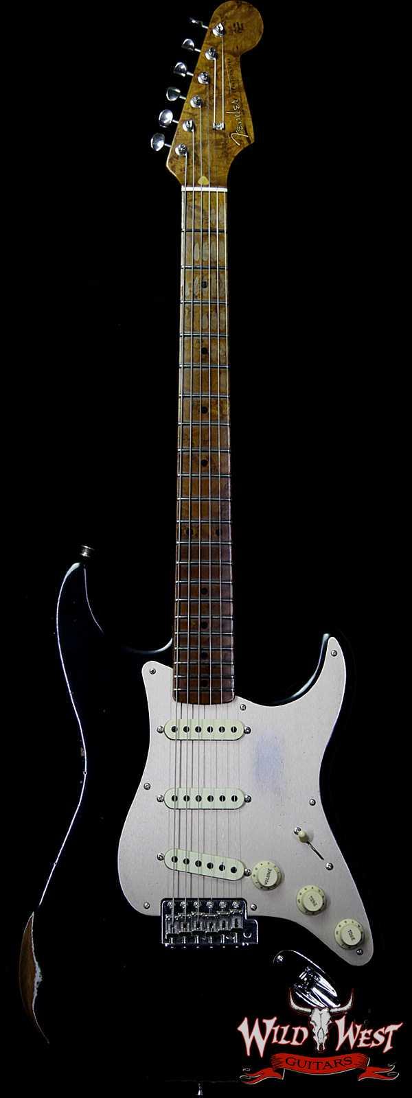 Fender Custom Shop 1956 Roasted Stratocaster Relic Birdseye Neck & Fingerboard Aged Black