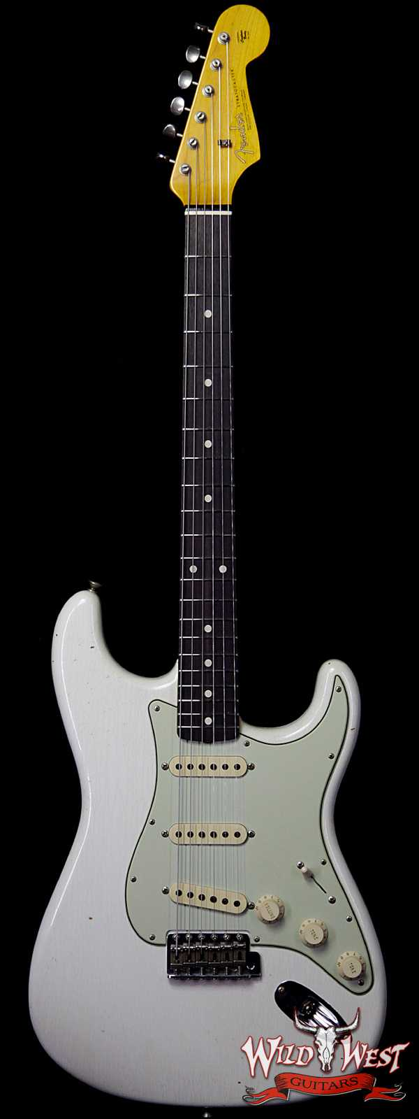 Fender Custom Shop 1963 Stratocaster Journeyman Relic with Dirty Neck Olympic White