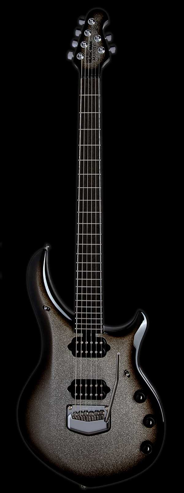 Ernie Ball Music Man BFR Limited Edition # 89 of 120 John Petrucci Signed Majesty Charred Silver Sparkle Burst