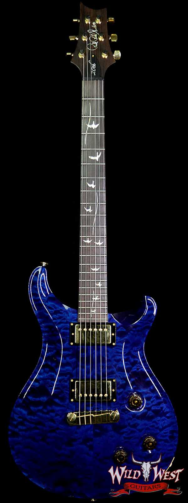 2007 PRS 20th Anniversary Artist Package Quilt Top Custom 22 Brazilian Rosewood Fingerboard Royal Blue