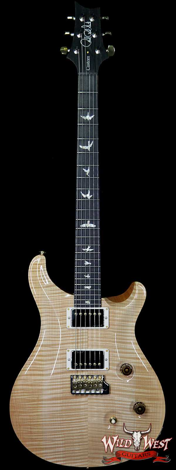 PRS Wood Library Flame 10 Top Custom 24 Korina Neck Ebony Fingerboard Natural