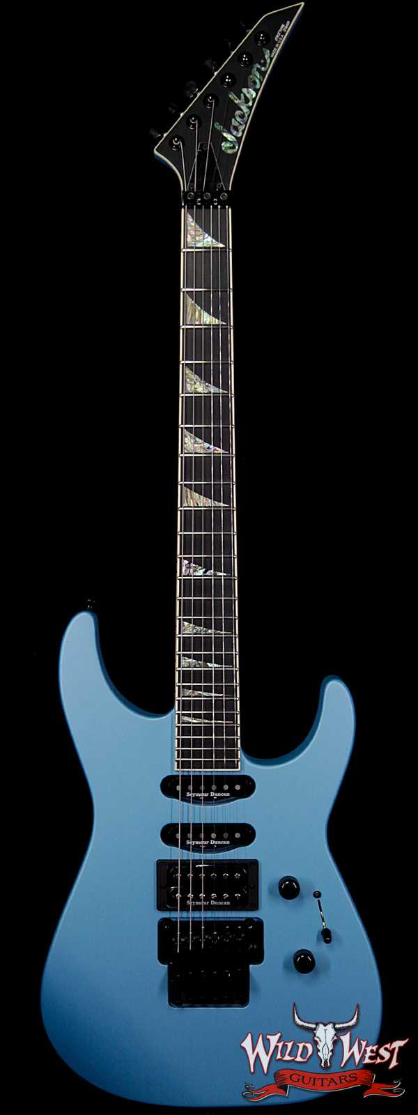 Jackson Custom Shop Wild West Soloist SL1 HSS Seymour Duncan Pickups Ebony Fingerboard Matte Blue Frost