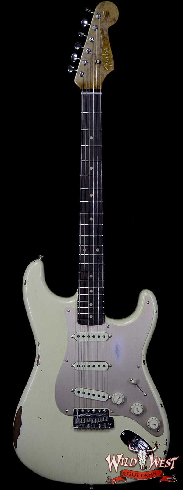 Fender Custom Shop Roasted 1960 Stratocaster Relic Birdseye Maple Neck AAA Rosewood Aged Vintage White