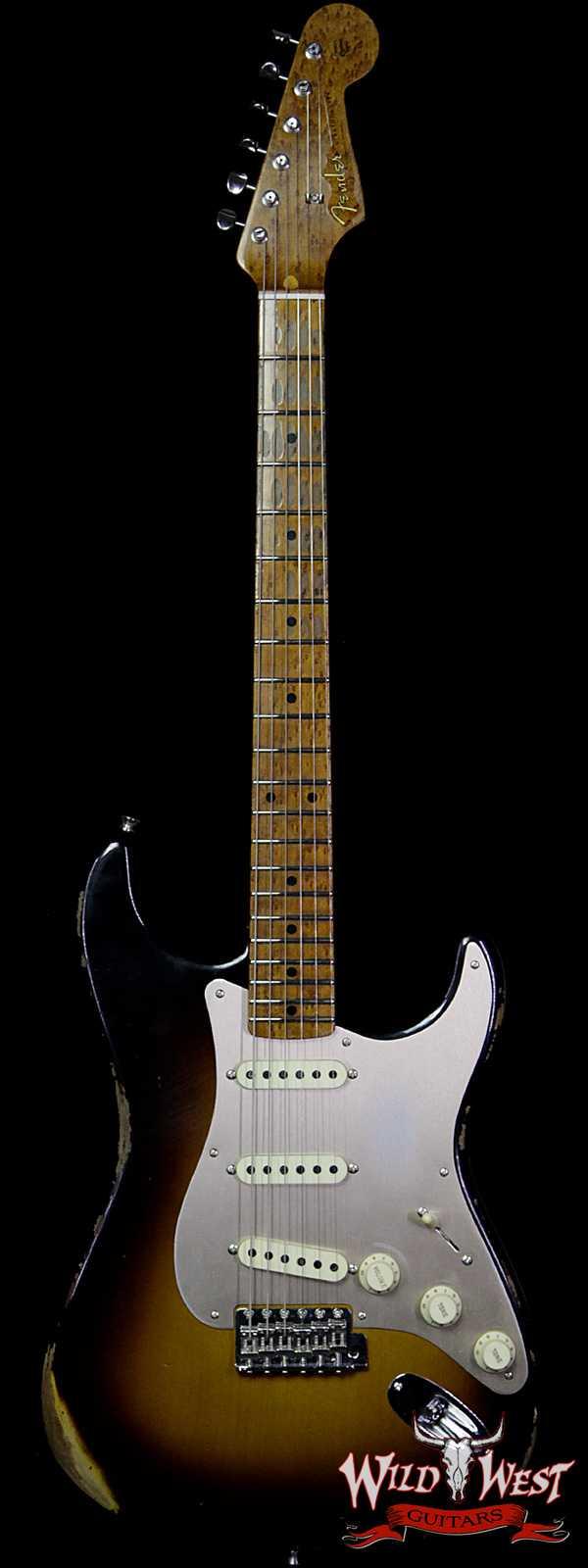 Fender Custom Shop Roasted 1956 Stratocaster Relic AAA Birdseye Maple Neck 2 Tone Sunburst