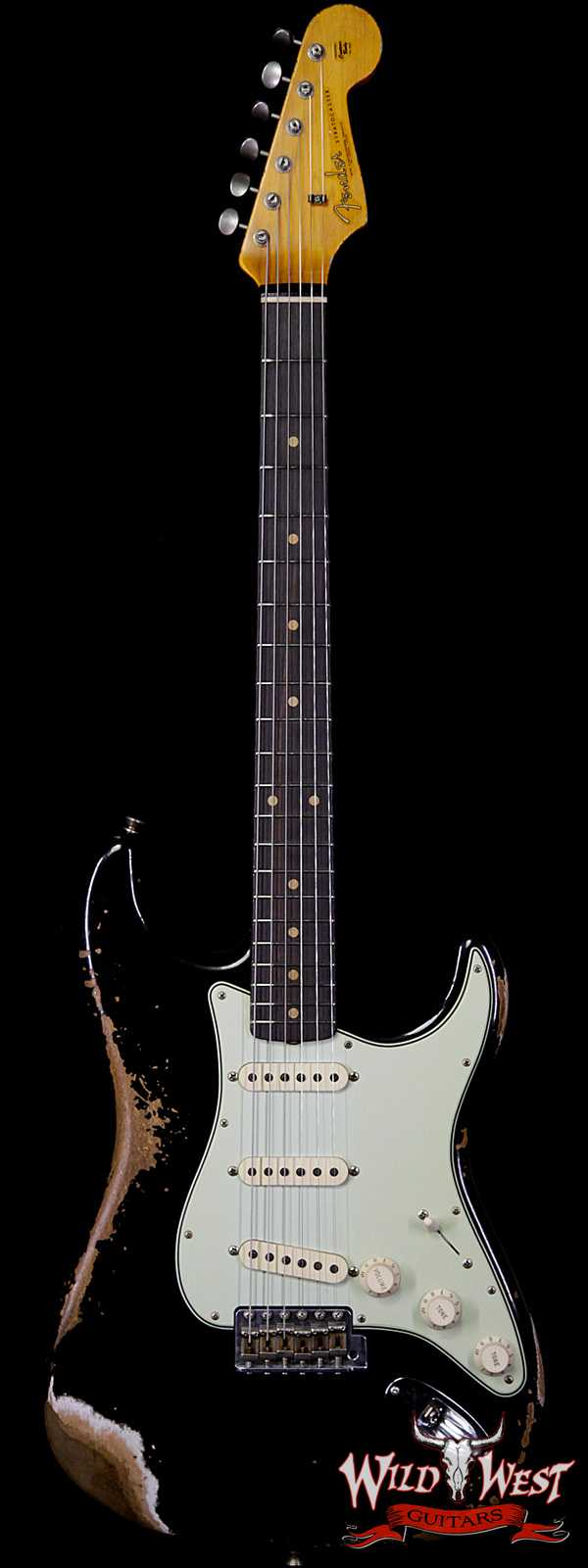 Fender Custom Shop 1961 Stratocaster Heavy Relic AAA Rosewood Fingerboard Black
