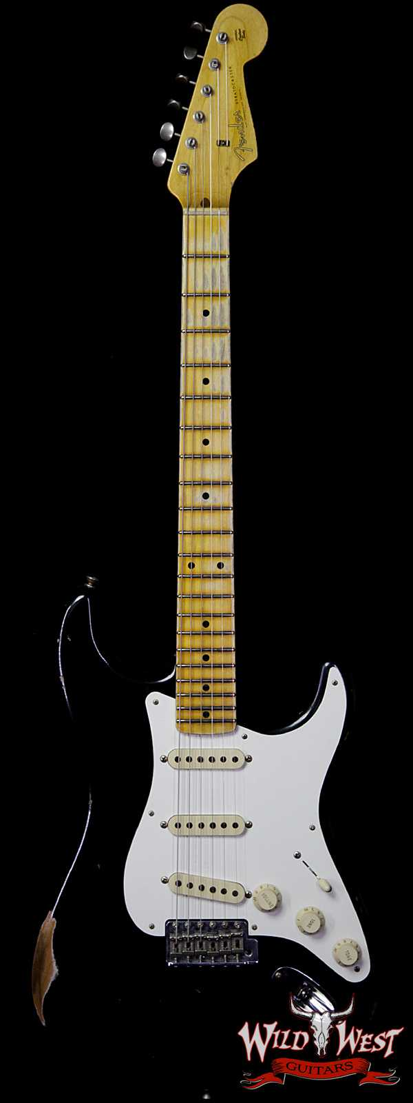 Fender Custom Shop 1957 Stratocaster Relic Maple Neck Black
