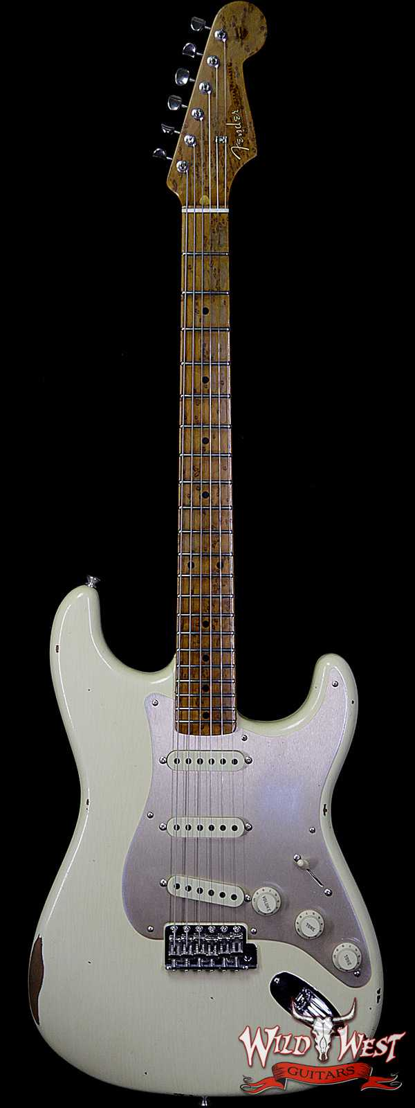 Fender Custom Shop 1956 Roasted Stratocaster Relic AAA Birdseye Maple Neck & Fingerboard Aged Vintage White