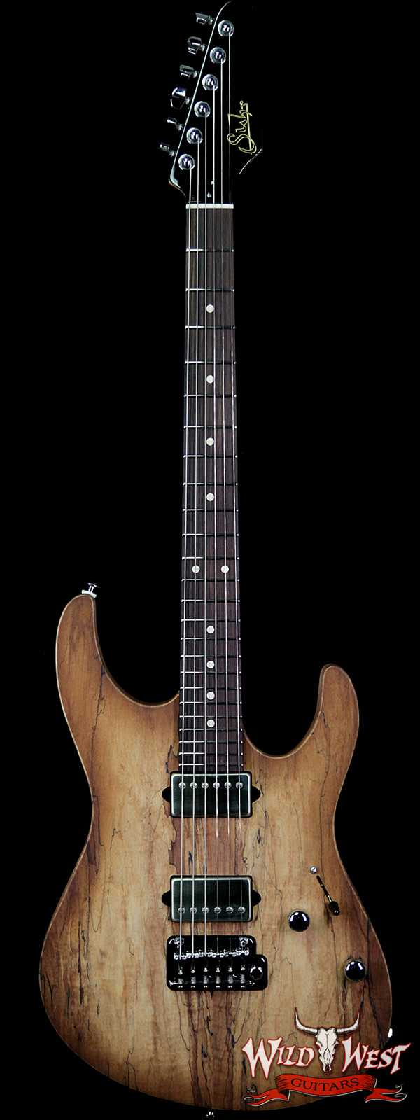 Suhr Custom Modern HH Alder Body Spalted Maple Top Rosewood Fingerboard Natural Burst