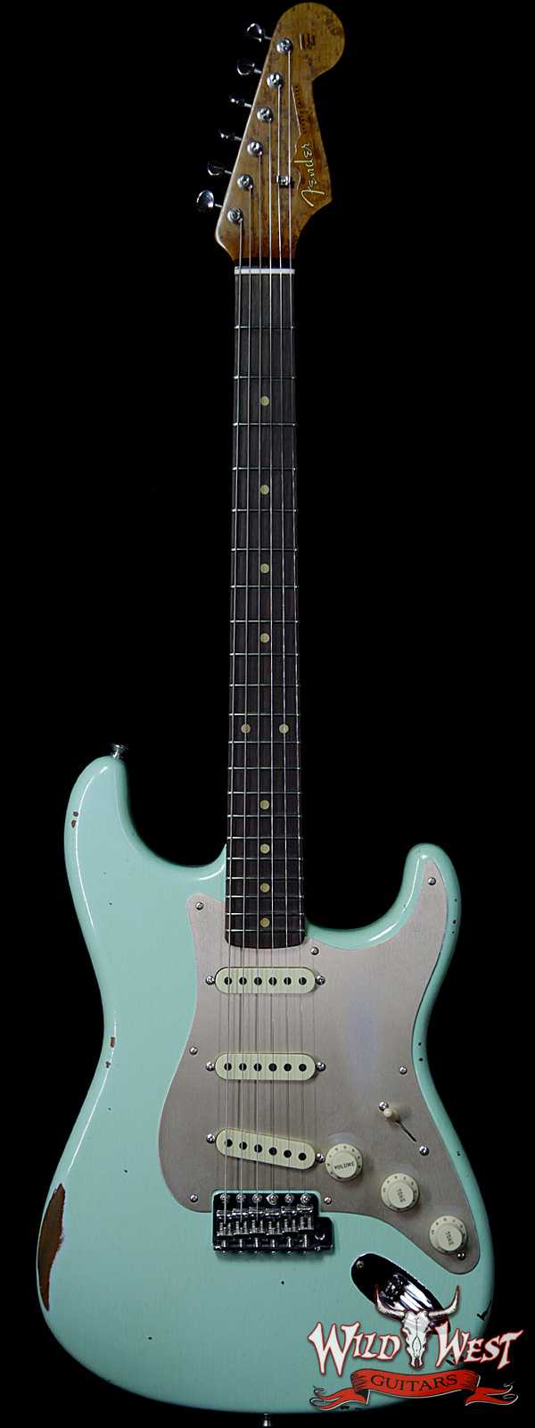 Fender Custom Shop 1960 Roasted Stratocaster Relic Birdseye Maple Neck Rosewood Slab Board Surf Green