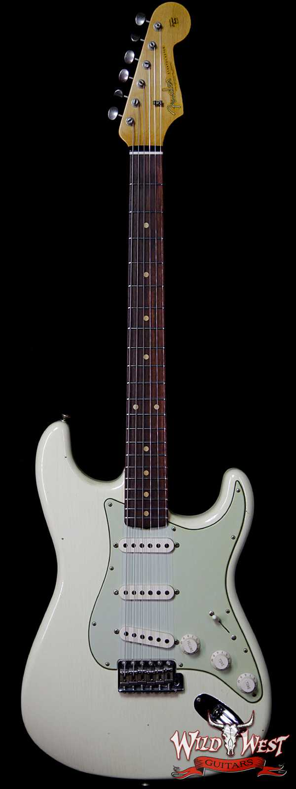 Fender Custom Shop 1961 Stratocaster Journeyman Relic w/ Dirty Neck AAA Rosewood Slab Fingerboard Vintage White