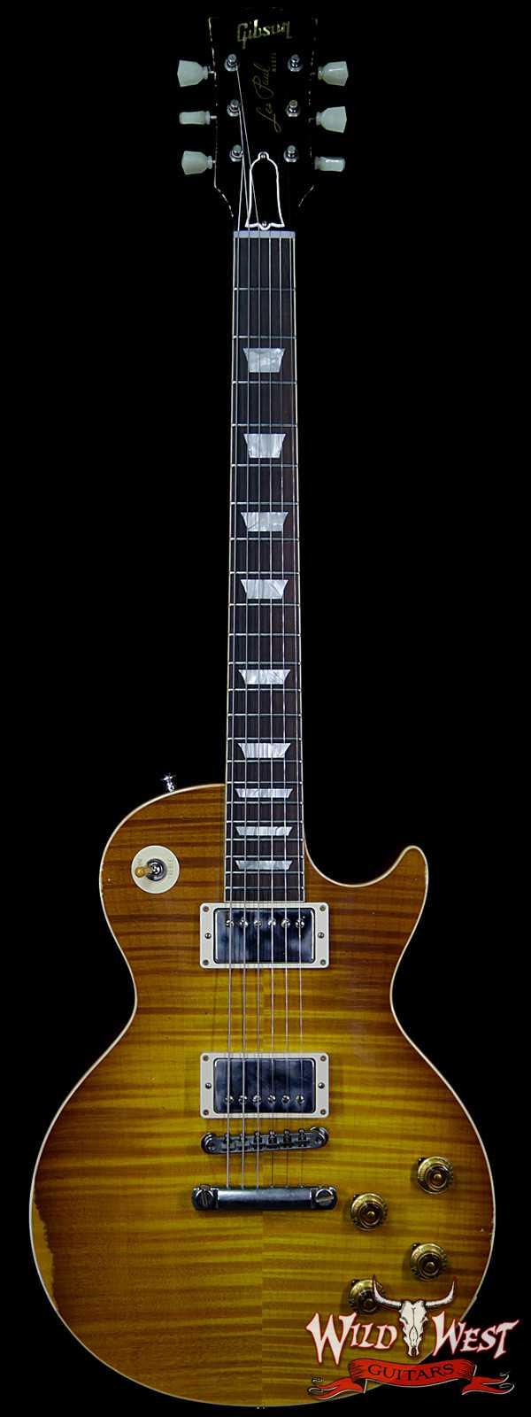Gibson Custom Shop 1959 Les Paul Aged R9 Hand Selected Killer Top Brazilian Rosewood Board Honey Lemon Fade 8.10 Lbs