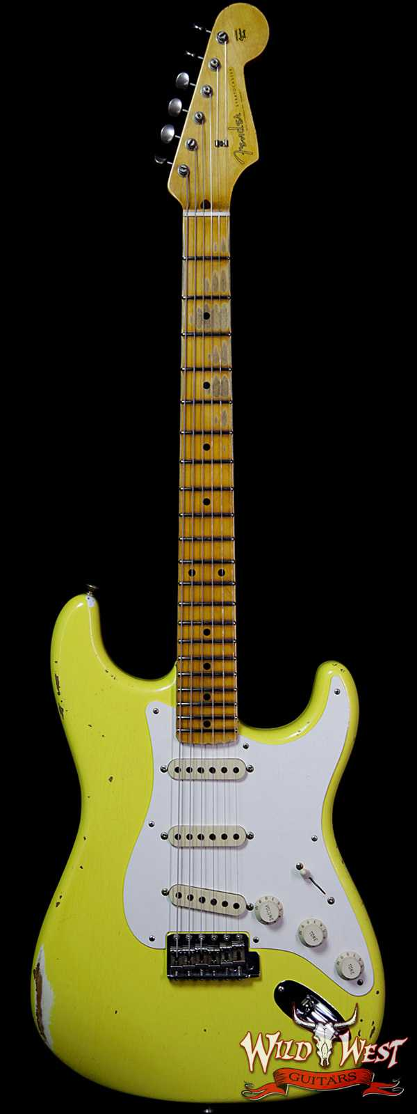 Fender Custom Shop 1957 Stratocaster Relic Maple Neck Graffiti Yellow