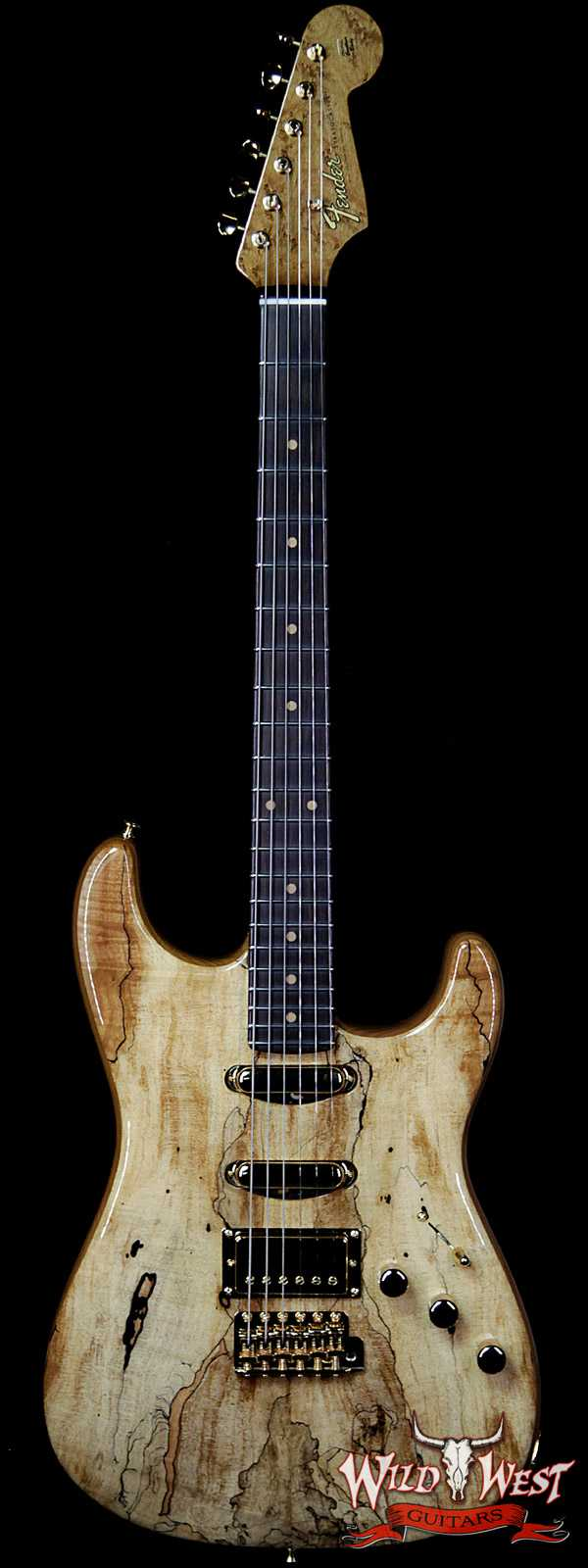 Fender Custom Shop Dennis Galuszka Masterbuilt Artisan Stratocaster HSS Spalted Maple Top Birdseye Neck