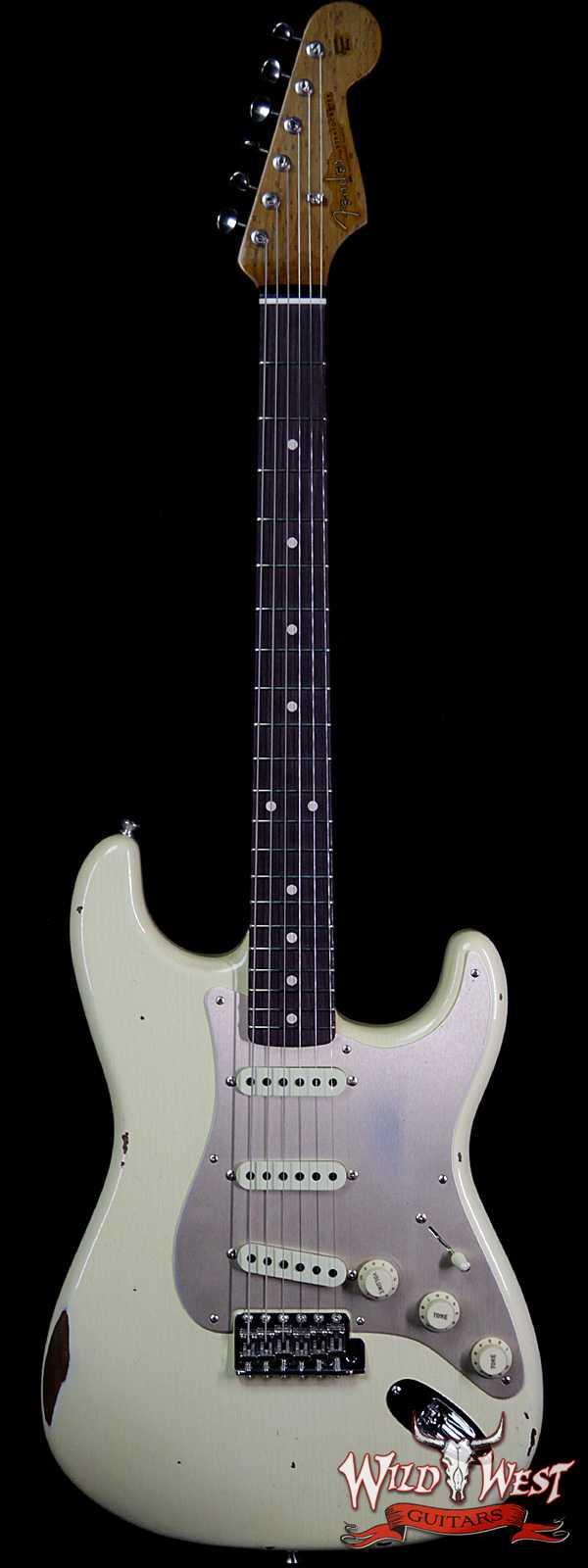 Fender Custom Shop Roasted 1960 Stratocaster Relic AAA Birdseye Maple Neck 3A Rosewood Slab Board Aged Vintage White