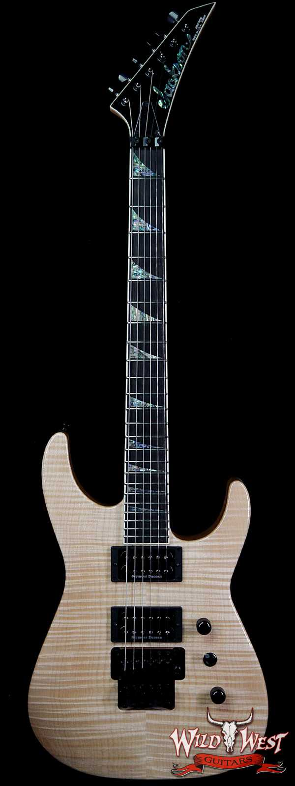 Jackson Custom Shop Wild West Flame Maple Top Soloist SL2H Ebony Fingerboard Natural