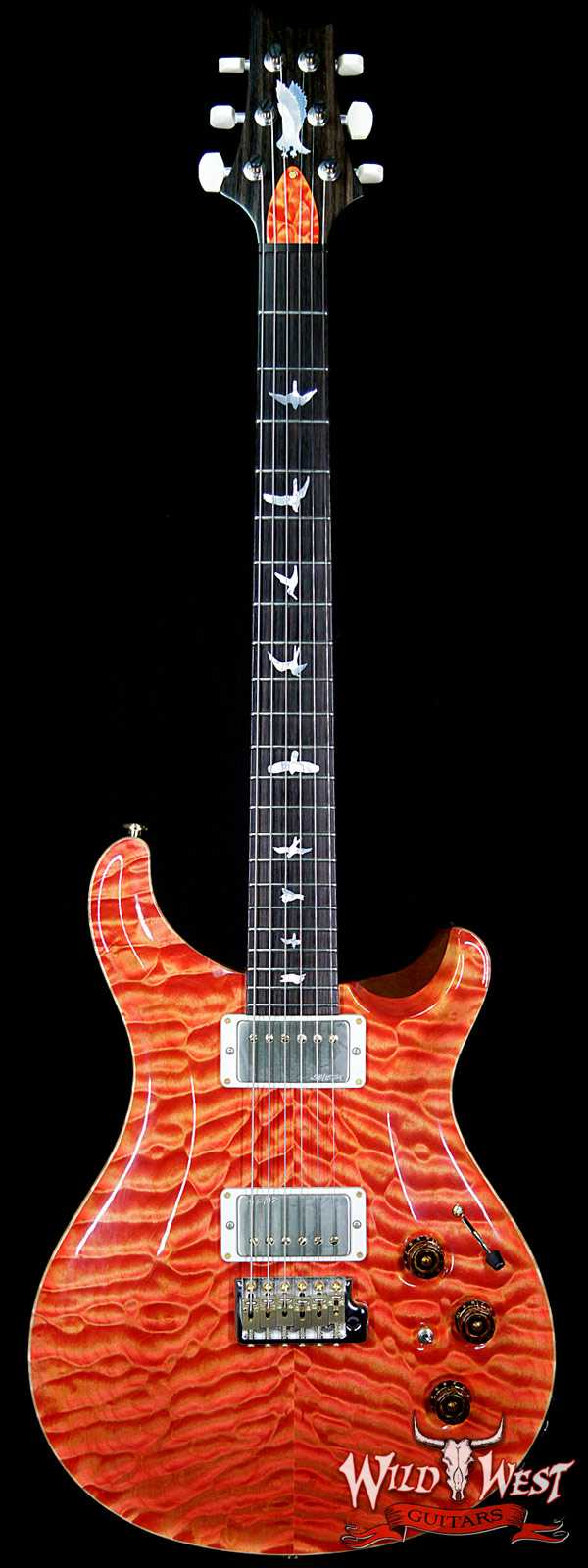 2015 PRS Private Stock # 5675 Custom 22 Piezo P22 Semi-Hollow Quilt Top Macassar Ebony Neck Salmon