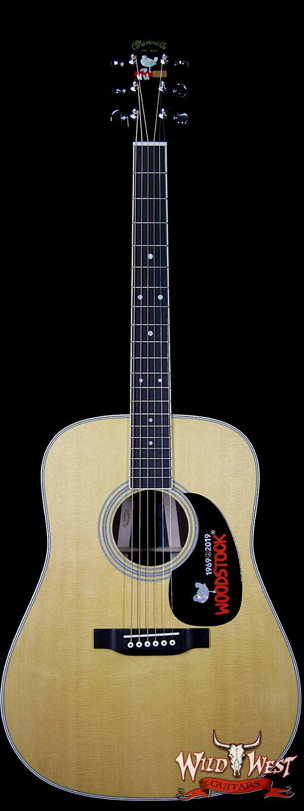Martin USA Special Edition D-35 Woodstock 50th Anniversary Guitar Rosewood Back & Side