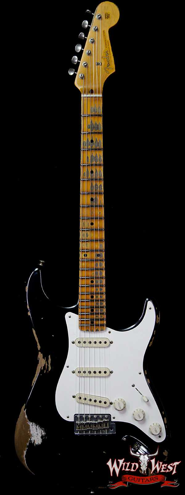 Fender Custom Shop 1957 Stratocaster Reissue Heavy Relic Maple Neck Black