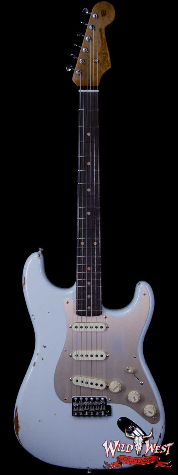 Fender Custom Shop Roasted 1960 Stratocaster Relic 3A Birdseye Neck 3A Rosewood Slab Board Sonic Blue