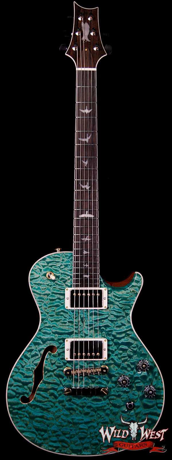 PRS Private Stock #7824 Singlecut McCarty 594 Semi-Hollow Quilt Top Brazilian Rosewood Fingerboard Bahamian Blue